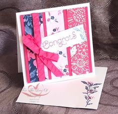 Everything is Rosy Created by Tracie St-Louis 2019 On Stage Quebec 3 x 3 that goes with the mini pizza box Everything's Rosie, Card Kit, Scrapbook, Stampin Up Cards, Paper Flowers, Cardmaking, Card Ideas, Projects To Try, Greeting Cards