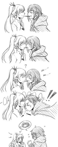 Rwby, pocky game fail. Ruby Rose x Weiss Schnee, White Rose