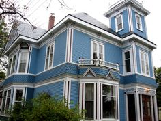 White House With Blue Shutters Blue House Using Too