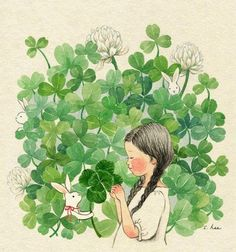 Image discovered by Naty. Find images and videos about girl, wallpaper and illustration on We Heart It - the app to get lost in what you love. Creative Illustration, Children's Book Illustration, Et Wallpaper, Korean Artist, Whimsical Art, Cute Art, Art Reference, Watercolor Art, Art For Kids
