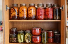 Canning cupboard