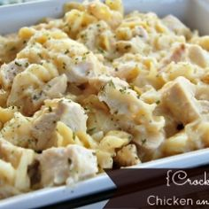 Crock Pot Chicken and Noodles by Tablefor7
