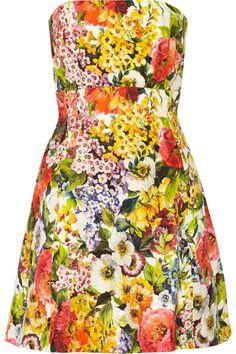 Dolce & Gabbana|Floral-brocade mini dress|NET-A-PORTER.COM