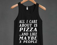 All About Pizza  Tank Top