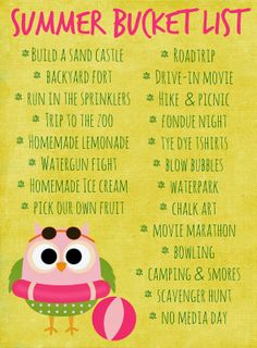 Our Summer Bucket List {Free Printable}