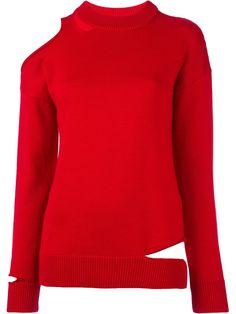 Erika Cavallini 컷아웃 숄더 스웨터