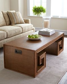 """Bamboo """"Key"""" Coffee Table at Horchow.  56""""W 26""""D 18.25""""T"""