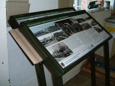 IRS Lectern sign placed in Hunstanton, created with a digital print.