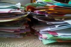 kids' school papers: tips for storing and organizing. What to keep and what to throw out.