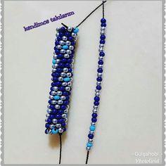 Modelim ve dizilişi 💙💙 lacivert boncuktan dizmeye başlıyoruz hapish… My model and order 🤗🤗 navy blue beads are starting to make 8 li prison prison m will be easy to do işi # Gulsahobi # My kendimcetakı Year # design eye blue Kette 🎀 Bead Crochet Patterns, Bead Crochet Rope, Beaded Jewelry Patterns, Bracelet Patterns, Beading Patterns, Neon Bracelets, Crochet Beaded Bracelets, Bead Loom Bracelets, Bead Jewellery