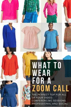 tips for what to wear for a Zoom video conference call Mom Outfits, Night Outfits, Petite Fashion, Plus Size Fashion, Zoom Conference Call, What I Wore, What To Wear, Perfect Gif, Zoom Call
