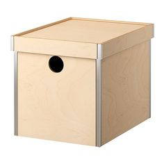 Plywood boxes at IKEA with a birdhouse-like peephole for a bedroom storage bench. Planning to stain them with red glazing paint to match a dresser.