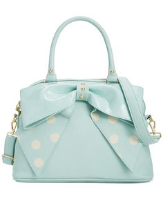 Betsey Johnson Macy's Exclusive Dome Satchel - Handbags & Accessories - Macy's. Bought yesterday, had to have! Goes perfect with a statement necklace I have. Love the sea foam color.