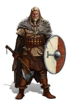 Northern people Vikings by Trassnick on DeviantArt Dungeons And Dragons Characters, Dnd Characters, Fantasy Characters, Fantasy Armor, Medieval Fantasy, Dark Fantasy, Fantasy Character Design, Character Art, Fantasy Inspiration