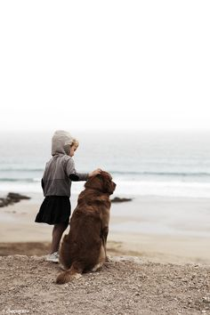 girl's best friend is a dog by the sea
