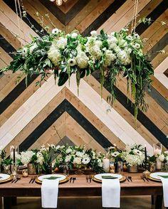 Urban tropical wedding inspiration at a brewery - 100 Layer Cake Floral Wedding Decorations, Wedding Centerpieces, Wedding Table, Rustic Wedding, Wedding Flowers, Wedding Reception, Wedding Aisles, Wedding Backdrops, Wedding Ceremonies