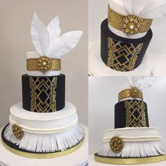 Great gatsby cake 20ies mood