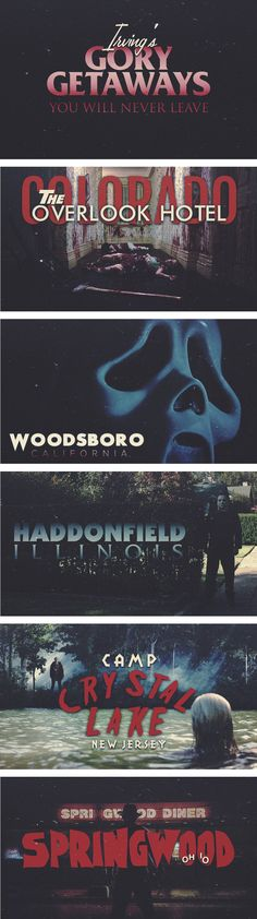 Horror Films Locations To Visit!