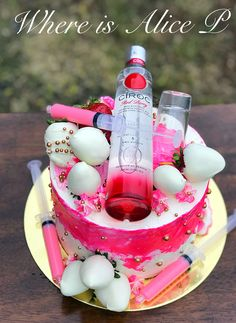 Berry Ciroc cheesecake cake