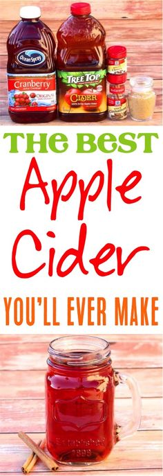 Crockpot Apple Cider Easy Recipe! The perfect beverage to serve this holiday season at your Fall Parties and Christmas celebrations, and will instantly become a family favorite!