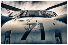 Aviation Photography, US Navy CH-60 Nose: USS Wasp, Metallic Photographic Print