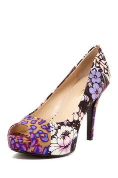 Cadee Peep Toe Heel by Nine West on @HauteLook