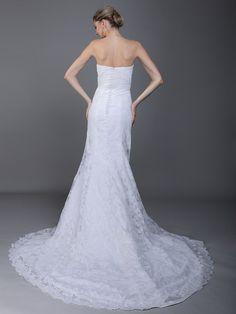 $479.99 Romantic Wrapped Bust Mermaid Wedding Dress #wedding #dresses
