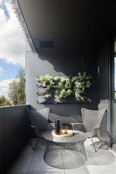White and grey terrace ; IKEA HÖGSTEN