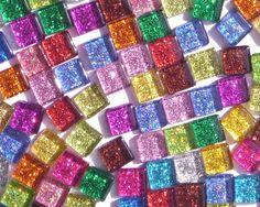 Glitter & Metallic Glass Tile