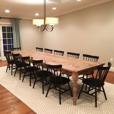 49 Splendid Farmhouse Table Ideas For Dining Room. Farmhouse table is a rustic style type of furniture and it is an important part of French country lifestyle. The most common type of farmhouse tables. Wood Table Rustic, Barn Table, Farmhouse Kitchen Tables, Long Wood Table, Barn Wood, Kitchen Wood, Rustic Table And Chairs, Modern Rustic Dining Table, Kitchen Ideas