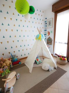 {Design} Baby G's Adventures Playroom! Comfortable Pillows, Table Set Up, Baby G, Soft Blankets, Woodland Nursery, Creative Kids, Baby Design, Play Houses, Rugs On Carpet