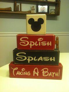 Mickey Mouse bathroom decor splish splash by AppleJackDesign, $29.95