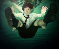 Anthony Goicolea - Under II, 2002 colour photograph 508 x 610 mm edition of 6 Figure Photography, Dinosaur Stuffed Animal, Portraits, Gallery, Artist, Model, Painting, Animals, Colour