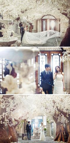 Elegant floral garden // Korean wedding photography // Bong Studio