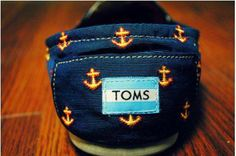 Raindrops on roses, and anchors on TOMS... #Theseareafewofmyfavoritethings