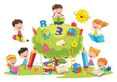 Little School Children Studying Learning Stock Vector (Royalty Free) 1514274965 Business Ppt, Kids Learning, School Children, Pikachu, Royalty Free Stock Photos, Wall Art, Illustration, Vector Freepik, Prints