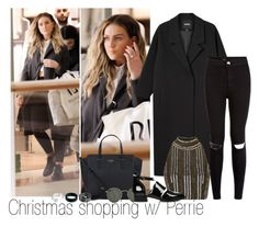 """Xmas shopping w/ Pez"" by edna-loves-1d ❤ liked on Polyvore featuring Monki, Topshop, New Look, Kate Spade, ASOS and Ray-Ban"