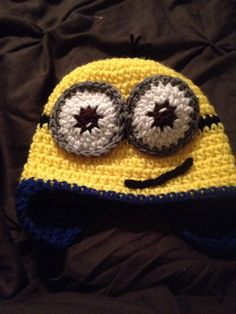 Despicable Me Minion Hat. by Hookinghats on Etsy