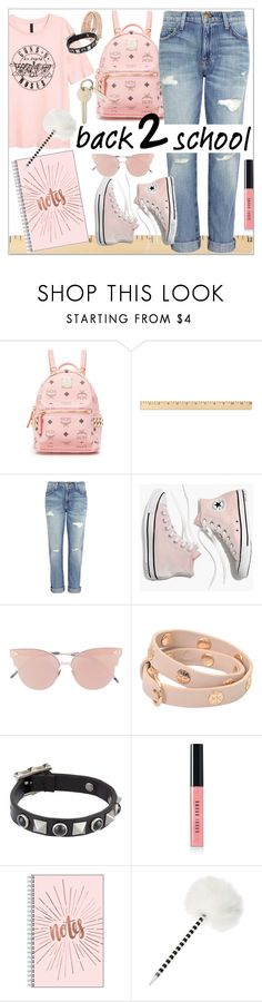 """""""Go Back To School Shopping!"""" by calamity-jane-always ❤ liked on Polyvore featuring MCM, Current/Elliott, Madewell, So.Ya, Tory Burch, Valentino, Bobbi Brown Cosmetics, BackToSchool, jeans and fashionset"""