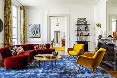 L'appartement parisien de Cindy Sherman, décoré par Laplace & Co © Matthieu Salvaing (AD n°119 septembre-octobre 2013)