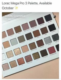 Lorac Mega Pro 3 Palette features 32 different eyeshadows. It has a mix of shimmer and matte shades. Check out more details in this post Kiss Makeup, Love Makeup, Makeup Inspo, Makeup Inspiration, Hair Makeup, Makeup Goals, Makeup Tips, Beauty Makeup, Makeup Palette