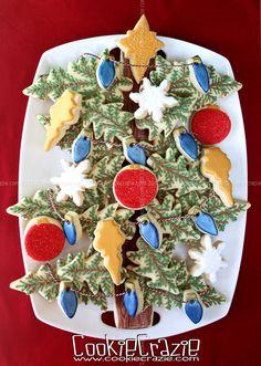 Christmas tree cookie platter by CookieCrazie