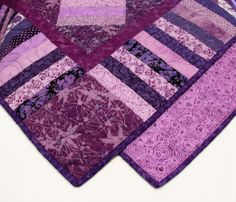 Purple and Flannel Quilt
