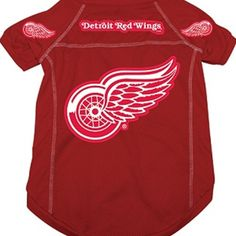 ce02bc6c5 Officially Licensed NHL Detroit Red Wings Dog Jersey! Dress your pet in  game day…
