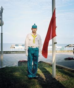 """Rob Hornstra, The Sochi Project - """"Guarding the Flag"""" (2011)."""