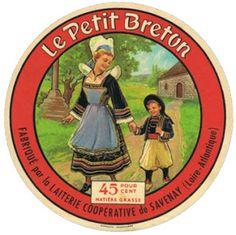 """camembert """"Le Petit breton"""" fabriqué par la laiterie coopérative de Savenay (Loire Atlantique) -"""