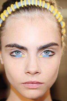 Runway Beauty Trend: Fade to Blue (Peter Philips | FENDI)