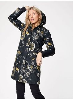 This organic cotton, embroidered coat by Thought Clothing is so dreamy! Eco Clothing, Made Clothing, Ethical Fashion, Slow Fashion, Green Fashion, Autumn Fashion, Waterproof Coat, Fair Trade Fashion, Her Style