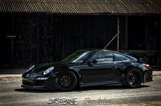 "Ultraleggera HLT 19"" on Porsche 911 (997) Carrera S-GT3 RSR Look #OZRACING #ITECH #ULTRALEGGERA #HLT #RIM #WHEEL Black Porsche, Porsche 911 997, Françoise Sagan, Top Gear, Love Car, Car Photography, Car Manufacturers, Cars Motorcycles"