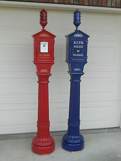 Gamewell Police & Fire Alarm Call Box Telephones Phone New York NYPD Department